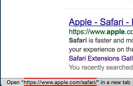 Disable Google Redirect Screenshot